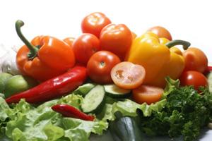 Fresh nutritious vegetables.